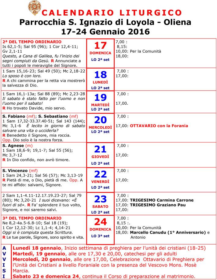 Calendario Liturgico 2016 Newhairstylesformen2014 Com